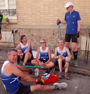 après la course