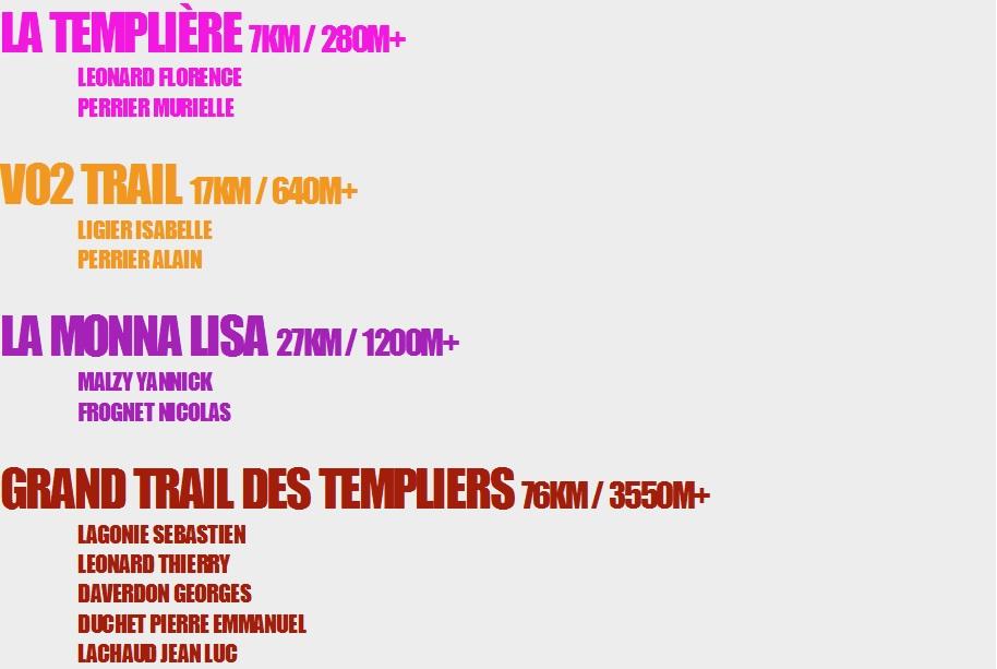 courses templiers